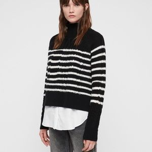 All Saints Mari roll neck jumper sweater S